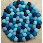 20 cm Diameter Blue Coaster