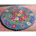 100 cm Diameters Flower Rugs