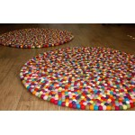 150 cm Diameters Multi Colors Rug